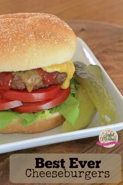 What is the secret to the Best Ever Cheeseburger?  Fresh chopped onion and sour cream.  Its a winning pair!  You will never be disappointed in these Best Ever Cheeseburgers.