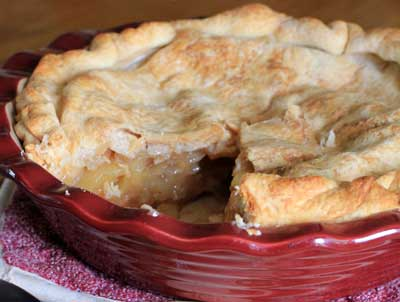Classic American Perfect Apple Pie. Flaky crust and tart-sweet apples with cinnamon spice.