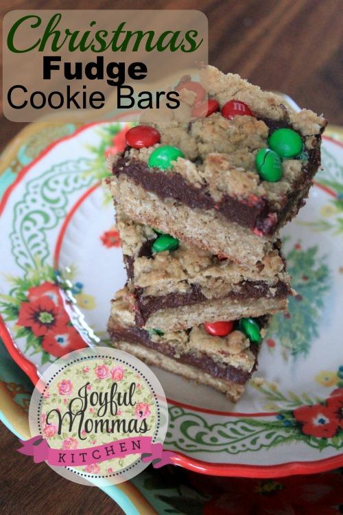 Christmas Fudge Cookie Bars